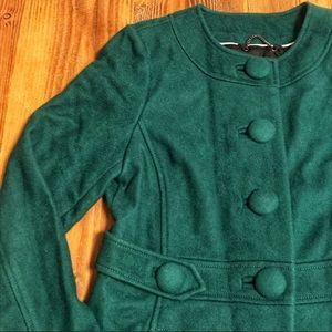 Emerald Green Banana Republic Wool Car Coat